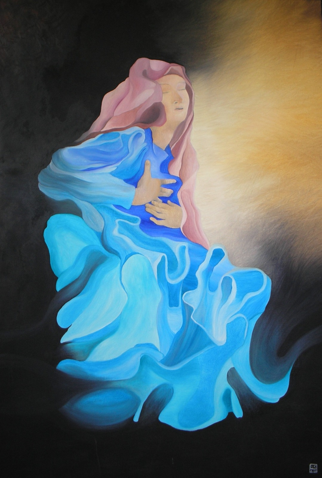la beata Ludovica olio su tela cm 120x80